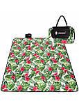 Килимок плед для пікніка відпочинку та кемпінгу сумка складний непромокаючий Springos Зелений 200 x 200 см (PM019), фото 3