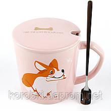 Керамическая чашка с крышкой м ложкой