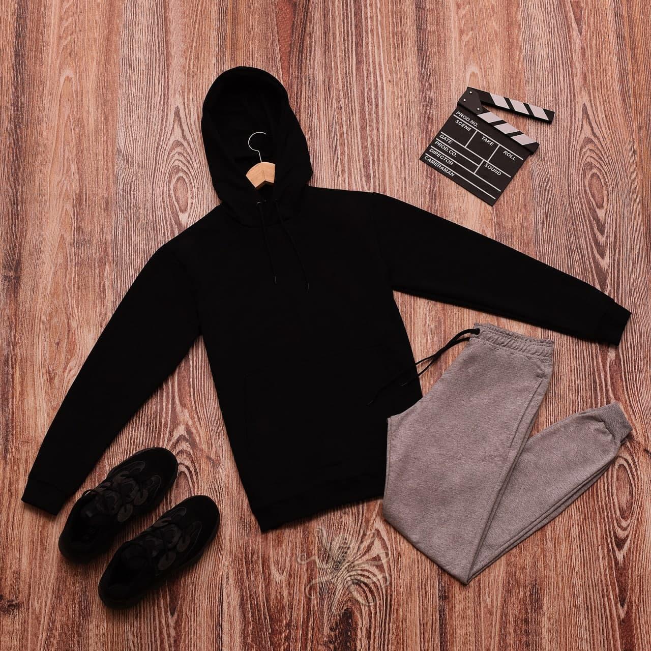 Мужской спортивный костюм весенний/осенний, комплект кофта худи + штаны Турция