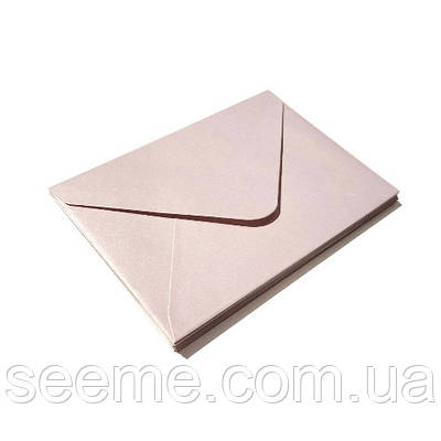 Конверт 205x140 мм, колір рожеве золото (rose gold)