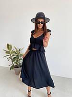 Женский летний костюм топ +юбка, фото 1