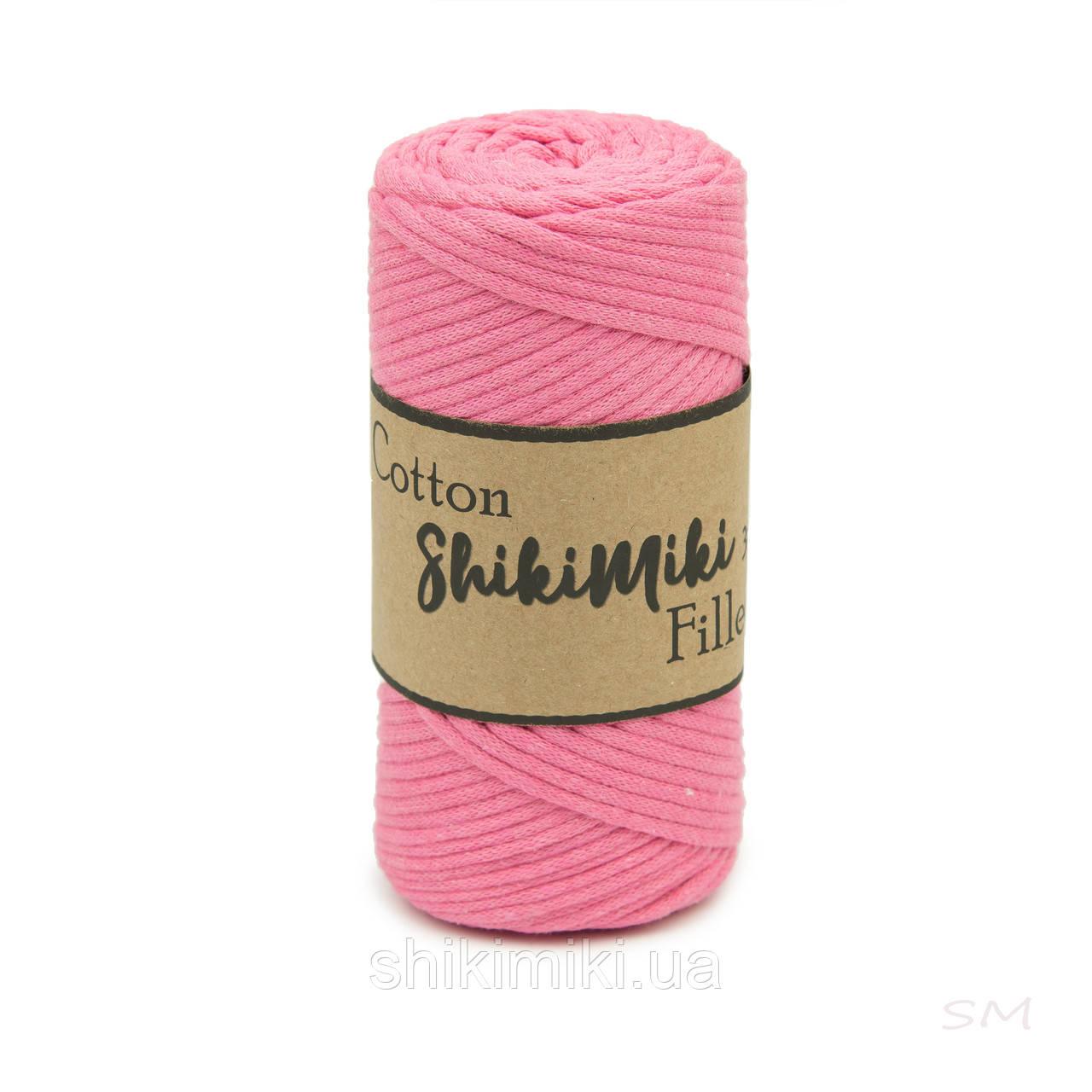 Трикотажный хлопковый шнур Cotton Filled 3 мм, цвет Розовый фламинго