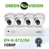 Комплект відеоспостереження GreenVision GV-K-S12/04 1080P, фото 1