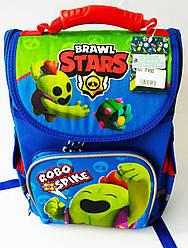 Школьный каркасный ортопедический рюкзак ранец портфель для мальчиков 1 2 3 4 5 класса спайк Stars Старс синий
