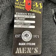Шорти чоловічі трикотаж полубаталы Black Cyclone Est. 1971, розміри 3XL-7XL, чорні, 1086, фото 6