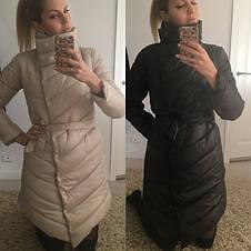 Женская удлинённая куртка на кнопках и змейке, фото 2