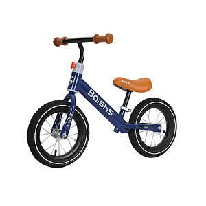 Беговел для детей Baishs HS-132 Blue двухколесный с вращением руля 360° без педалей