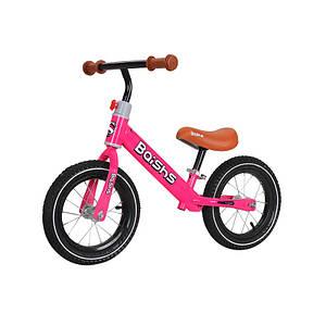 Беговел для детей Baishs HS-132 Pink двухколесный с вращением руля 360° без педалей