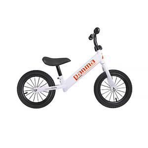 Детский беговел Panma BT-616 White велобег без колес для детей