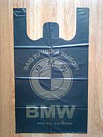 Пакеты майка BMW 44х75 см/ 35 мкм плотные, прочные полиэтиленовые от производителя, большой пакет БМВ купить, фото 1