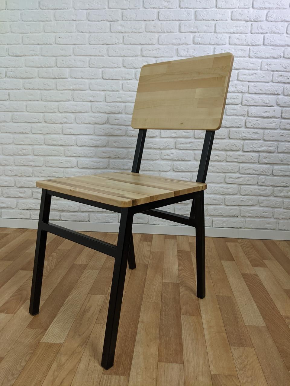 Стілець №1 для кафе з металу і дерева