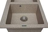 Кухонна мийка гранітна MIRAGGIO WESTEROS terra, фото 3