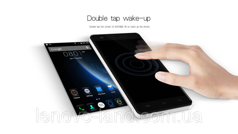 Doogee X5, Android 5 1, 5'' MT6580, RAM 1 / ROM 8, 3G, Wi-Fi