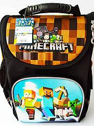 Школьный каркасный ортопедический рюкзак ранец портфель для мальчиков 1 2 3 4 5 класса Майнкрафт minecraft