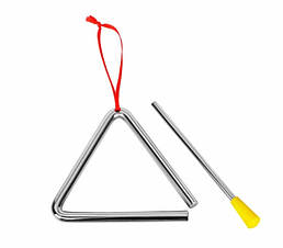 Музичний трикутник дитячий (маленький) goki