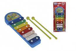 Музичний інструмент дитячий ксилофон Веселі ноти, 28 см, Simba