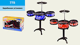 Дитяча ударна установка, 2 кольори,три барабана,тарілка,ударні палички