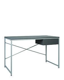 Компьютерный стол Forward с ящиком ножки белые столешница ДСП Серый шифер (Новый Стиль ТМ)
