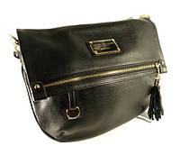 Кожаная сумочка, клатч Marc Jacobs 10669 черная на плечо