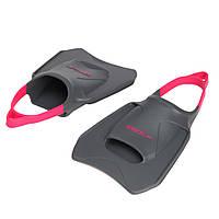 Ласты для тренировок в бассейне короткие с открытой пяткой SPEEDO BIOFUSE FITNESS черный-розовый, фото 1