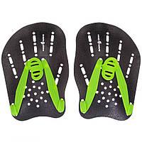 Лопатки для плавання гребні MadWave PADDIES M074906 чорний-зелений