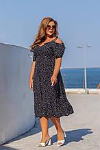 Летнее платье женское Супер софт Размер 48 50 52 54 56 58 60 62 Разные цвета