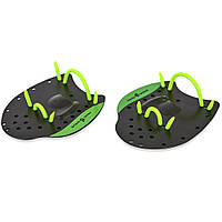 Лопатки для плавання гребні MadWave PRO M074002 чорний-зелений