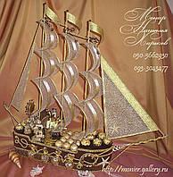 """Корабль из конфет """"Шоколадный"""""""
