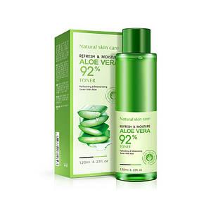 Тонер для лица с алое BIOAQUA Refresh&Moisture Aloe Vera 92% увлажняющий и восстанавливающий 120 г