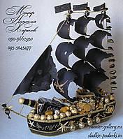 """Корабль из конфет """"Пиратский"""""""