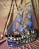 """Корабль из конфет """"Синее море"""" со спиртным"""