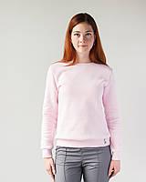 Теплий жіночий світшот з начосом ніжно-рожевий, фото 1