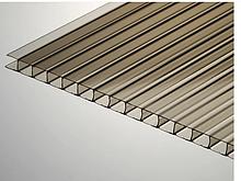Стільниковий полікарбонат ТМ Oscar Premium 10мм бронза 2100х6000мм В наявності