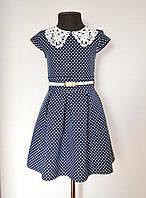 Детское школьное платье для девочки от 5 до 9 лет, школьный сарафан на девочку