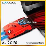 Внешний вентилятор (кулер) для ноутбука CoolCold C3, красный\белый, фото 2