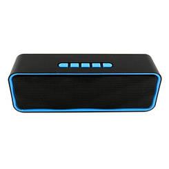 Портативная беспроводная Bluetooth колонка Music Wireless Speaker SC 211 черная с синим