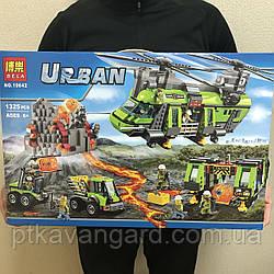 Конструктор Грузовой вертолёт исследователей вулканов 1325 деталей Bela 10642