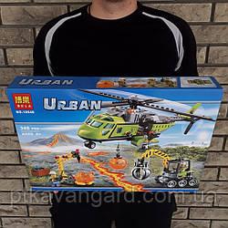 Конструктор Грузовой вертолёт исследователей вулканов 348 деталей Bela Urban 10640