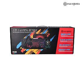 Ігровий геймерський комплект Max Robotics RGB 4 в 1