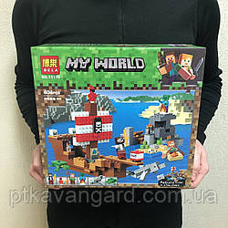 Конструктор Майнкрафт Приключения на пиратском корабле Bela 11170 404 детали