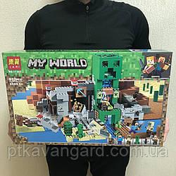 Конструктор Майнкрафт Шахта Крипера Minecraft Lari 11363 852 детали