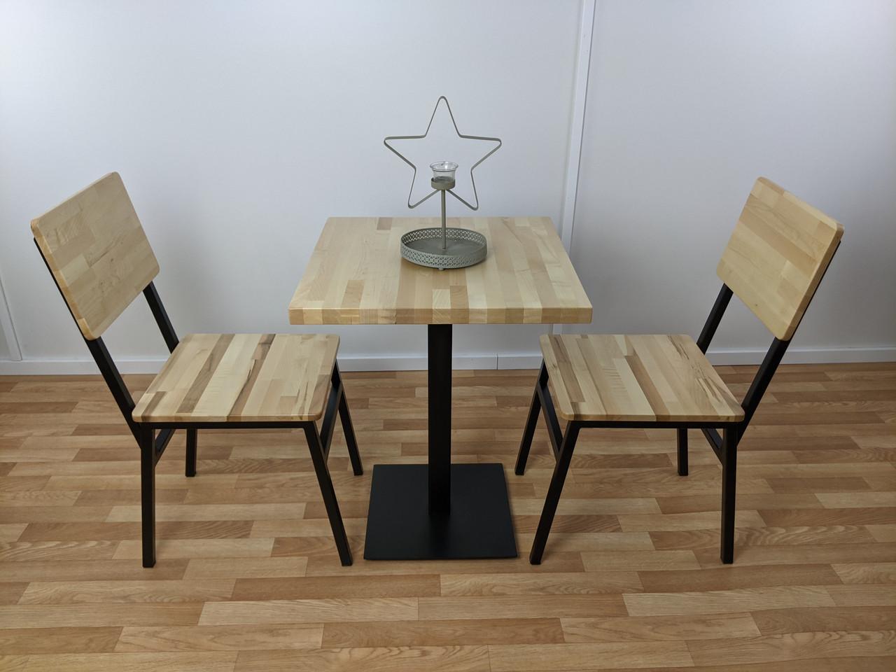 Комплект №1: Стол и Стулья для кафе бара ресторана