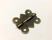 Петля для шкатулок бронза 25х20 мм 90º наружная