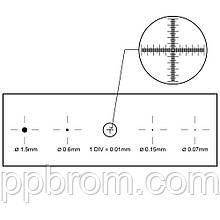 Калибровочная линейка SIGETA X&Y 1мм/100 Div.x0.01мм