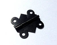 Петля для шкатулок черная 20х17 мм 180º наружная