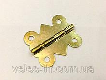 Петля для шкатулок золото 25х20 мм 270º универсальная