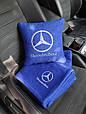"""Автомобільний набір: подушка і плед з логотипом """"Mercedes"""" колір на вибір, фото 2"""