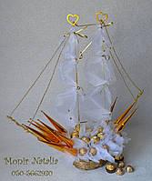 Свадебный корабль из конфет , фото 1