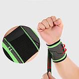 Компресійний еластичний бинт пов'язка на зап'ясті бандаж для занять в тренажерному залі Високоеластичний бандаж для фітнесу, фото 3