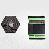 Компресійний еластичний бинт пов'язка на зап'ясті бандаж для занять в тренажерному залі Високоеластичний бандаж для фітнесу, фото 6